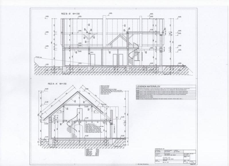 5 izbový Rozostavaný rodinný dom